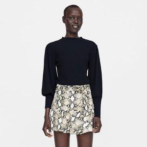 NWT Zara animal print shorts SZ M in Women